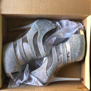 Silver studded Cathy Jean heels